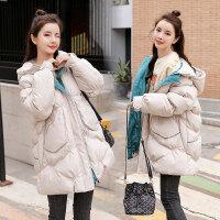 孕后期中长款冬装外套孕妇冬装棉衣棉袄韩版宽松外套