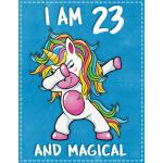 预订 Unicorn B Day: I am 23 & Magical Unicorn birthday twenty