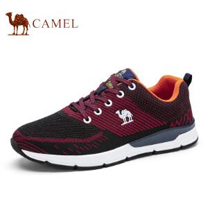 camel骆驼男鞋新品 男士透气撞色潮流运动休闲鞋系带