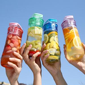 爱屋格林水杯随手杯塑料杯子学生便携防漏简约创意大容量运动水壶