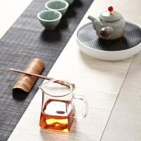 带茶漏隔茶器功夫茶具配件玻璃公道杯加厚茶海分茶器