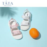 【199元任选2双】他她女童凉鞋2020夏季新款公主鞋中小童小孩鞋儿童凉鞋沙滩鞋防滑