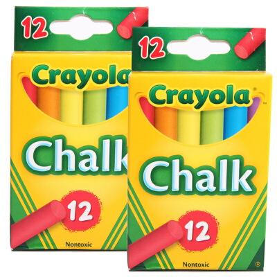 当当自营Crayola 绘儿乐 彩色粉笔12支装 两组装 51-0816