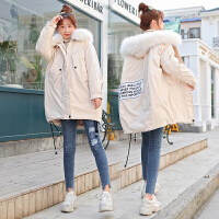冬季孕妇中长款加厚保暖韩版宽松棉袄孕妇冬装棉衣外套