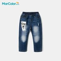巴拉巴拉旗下马卡乐童装新款男童照片印花时尚牛仔大口袋长裤