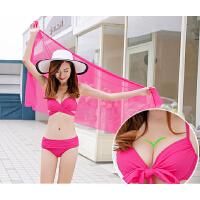海岸 新款泳衣女性感小胸钢托聚拢比基尼分体三件套