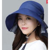 可折叠凉帽出游沙滩帽 遮阳帽子女士 户外防晒紫外线大沿太阳帽 支持礼品卡
