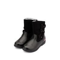 【秒杀价:49元】迪士尼Disney童鞋女童冬季靴子皮靴小童中童 S73552