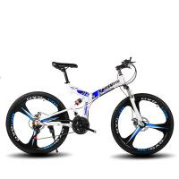 山地自行车 26寸山地自行车前后减震变速男女单车折叠山地车