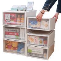 抽屉式收纳柜子收纳箱透明放内衣服物塑料储物箱衣柜收纳盒整理箱