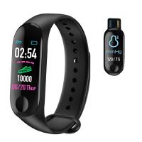 M3彩屏智能手环测心率血压器多功能运动学生男女防水计步蓝牙手表