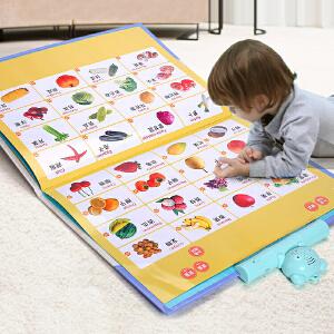 乐乐鱼 有声挂图拼音卡片发声语音宝宝幼儿童早教启蒙认知益智玩具识字有声读物
