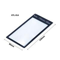 KENKO 肯高 KTL-014 2.5X 卡片书签式 放大镜 手持阅读 (黑色)