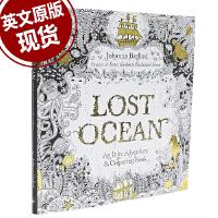 现货 英文原版 迷失海洋Lost Ocean失落海洋 秘密花园新作填色书
