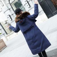 新女士外套2018新款棉袄女装两面穿羽绒长款冬季大毛领加厚修身外套