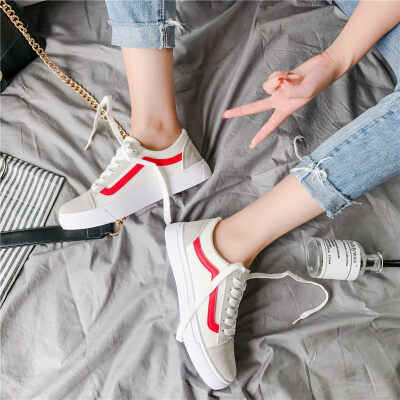 O'SHELL法国欧希尔063-F01韩版布女士板鞋