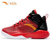 (10.17-20满100减30 200减60 300减90叠加礼券)安踏儿童篮球鞋男童运动鞋2018新款高帮球鞋学生