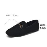 19珂卡芙新款【显白显瘦】甜美优雅短毛软底女鞋平底舒适女单鞋