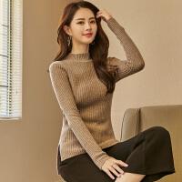 丝2018秋冬新款纯羊绒针织衫女装圆领贴身毛衣套头打底衫