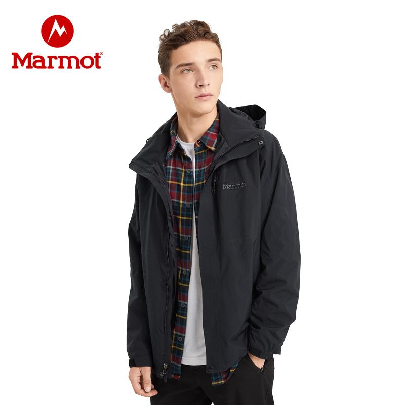 Marmot/土拨鼠新款秋冬运动户外防水防风透气男士冲锋衣