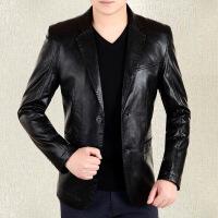 中年男士外套修身�n版���庹嫫てひ履芯d羊皮西�b�I秋季爸爸�b18607