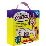 First Little Comics Parent Pack Levels E-F 16册 附贴纸 学乐自然拼读初级