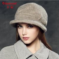 卡蒙帽子女 贝雷帽毛呢帽子女小礼帽 英伦复古毛呢帽 女2348