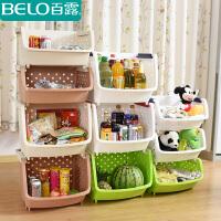 百露水果蔬菜厨房置物架储物架厨房收纳整理架收纳篮加高加厚套装