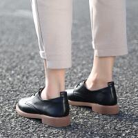 小皮鞋女英伦2019春秋季软妹学院风复古平底学生单鞋