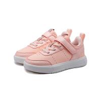 【折后叠券预估价:84】361度童鞋女童运动休闲板鞋2021年春季新款小童运动鞋 嫩粉色