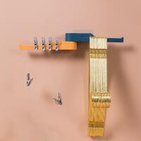 创意墙壁门后免打孔E509加厚强力塑料挂钩装饰壁挂无痕粘胶挂钩