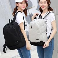 时尚潮流旅行包电脑包双肩包韩版初中学生书包女帆布背包