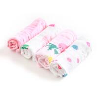 全棉时代婴儿纱布手帕纯棉口水巾小方巾新生宝宝超软洗脸毛巾汗巾