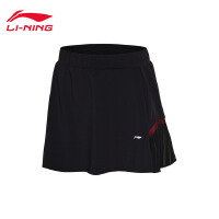 李宁裙裤女士2018新款国家队赞助款羽毛球系列速干短裤短装运动裤ASKN028