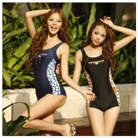金格尔11113 连体遮肚显瘦平角温泉 保守运动女士游泳衣泳装