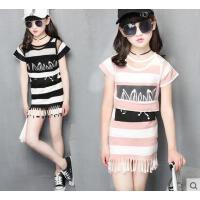 儿童套裙童装女童户外新款中大童韩版时尚套装裙9-11周岁12女孩15