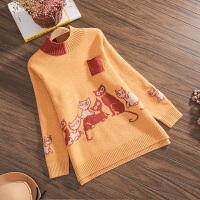 2019时尚韩版针织衫洋气秋装打底衫孕妇宽松款毛衣