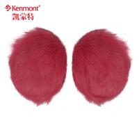 无发箍耳套 kenmont兔毛耳套冬季女士耳罩 皮草耳捂 可爱耳暖3951