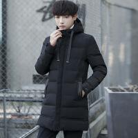 棉衣男冬季连帽中长款加厚保暖男士韩版修身棉服棉袄外套潮流帅气
