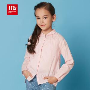 季季乐儿童上衣韩版女童衬衫娃娃领春装女孩衣服GCC61035