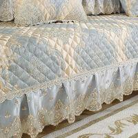 欧式高档垫布艺套装四季通用防滑坐垫简约现代沙发套全包盖巾蕾丝