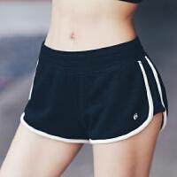 暴走的萝莉 松紧腰复古运动短裤女柔软速干透气健身训练跑步热裤