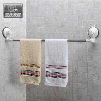 双庆 1027家居 超强吸盘毛巾挂不锈钢单杆毛巾架270度可旋转 魔力吸盘转角 浴室毛巾架 毛巾杆