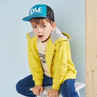 戴维贝拉kids春季新款男童外套中大童连帽外套DBK9120