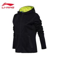 李宁卫衣女士羽毛球系列开衫长袖外套连帽上衣女装运动服AWDM668