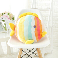 亲亲鱼午睡枕头被子汽车抱枕被子两用靠垫被大号空调被珊瑚绒毯