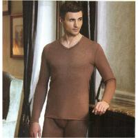 保暖内衣男士套装 腈纶莫代尔羊毛中厚V领 P274907