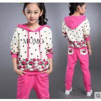 休闲百搭童装女童韩版时尚户外新款10儿童运动套装11大童女装12周岁13女孩15