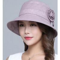 中老年花朵盆帽妈妈帽太阳帽 遮阳帽子女 大沿防晒沙滩帽渔夫帽 支持礼品卡