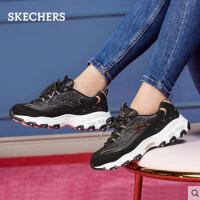 【*注意鞋码对应内长】Skechers斯凯奇女鞋D'lites时尚厚底增高老爹鞋休闲熊猫鞋13087
